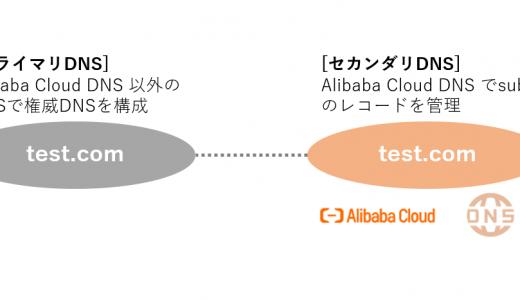 Alibaba Cloud DNS のセカンダリDNS を使ってみる