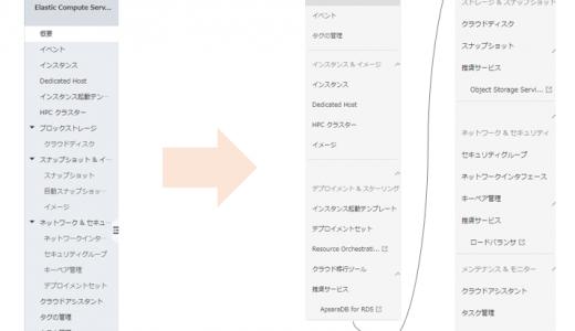 ECS のコンソール画面がリニューアル