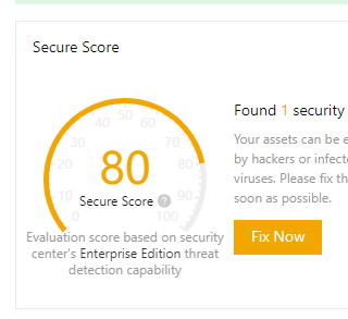 """Alibaba Cloud Security Center #15 """"Your assets are exposed to the risks of hacker intrusion and virus infection."""""""
