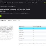 WVD Spring 2020 #51 Windows Virtual Desktop エクスペリエンス見積もりツール 前編