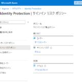 Azure AD の Identity Protection を有効化する