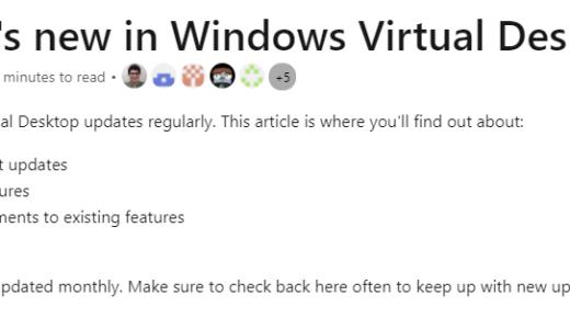 Windows Virtual Desktop #86 April 2021 新機能・更新情報 [2021/5/3]